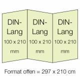 6-seitige Folder aus Steinpapier in Din-Lang